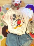 OLD From  U.S.A「Mickey」  ポージング    Tシャツ(ホワイト)