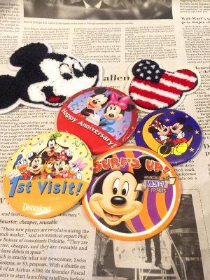 """画像1: USED """"Disney""""  缶バッヂ(4Design)"""