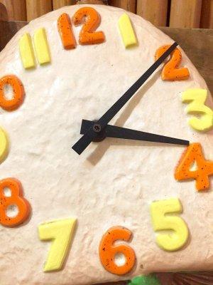 画像2: 60'sVintage 「arnels」ぽってりMushroom壁掛け時計(ベージュ)