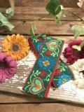 Vintageハートフラワー刺繍 チロリアンテープ(2size)