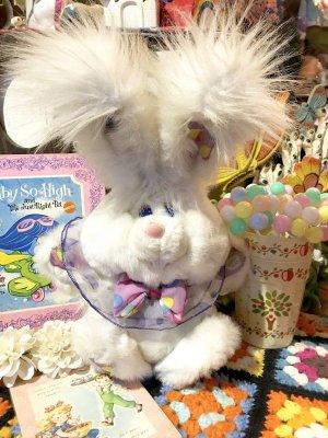 """画像1: 90's「Dan Dee社」""""Giggle Bunny"""" Talking Doll(ホワイト)"""