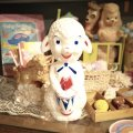 Vintage  Sheep Rubber doll(white)