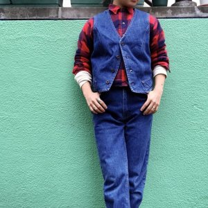 画像1: USED 「Wrangler」DenimVest Boy's L