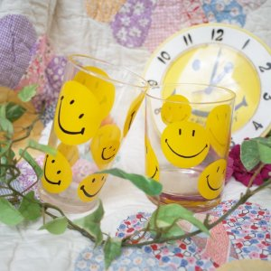 "画像1: Dead Stock 60'sVintage ""Smile"" glass (2Design)"