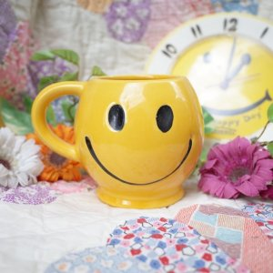 画像1: 70'sVintage「McCOY」Happy Smiley Face mug(yellow)