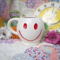 70'sVintage「McCOY」Happy Smiley Face mug(white)