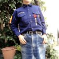 ★★20%OFF★★70'sUSED Boy Scout shirt (navy)