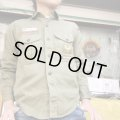 60'sVintage Boy Scout Cotton shirt (khaki)