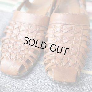 画像2: FromU.S.A basket  leather sandal(brown)