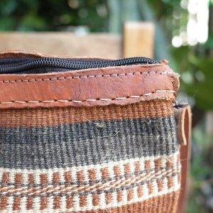 """画像3: USED HANDCRAFT """"KENYA Bag""""  (brown)"""