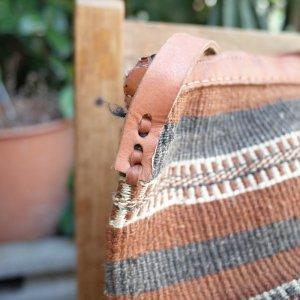 """画像2: USED HANDCRAFT """"KENYA Bag""""  (brown)"""