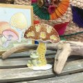 "70'sVintage  U.S.A  ""Mushroom""pierce stand  (yellow)"
