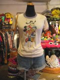 OLD  Mickeyと 仲間達 Tシャツ (クリーム)