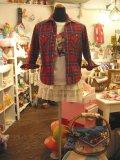 タータンチェックネルシャツ(レッド×ネイビー×グリーン)