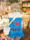 I ♡ HAWAII ベアトップ (T60~80/ターコイズ)