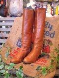 Real Leather ジョッキーブーツ(キャメル)