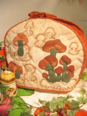 画像1: ★★★SALE★★★ 70's Vintage mushroom ポットカバー