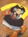 80's「REO SPEED WAGON」ラグラン Tシャツ (イエロー)